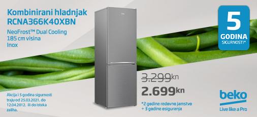 neofrost hladnjak rcna366k40xbn, travanj