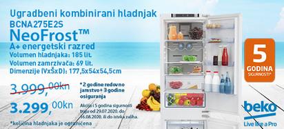 neofrost ugradbeni kombinirani hladnjak