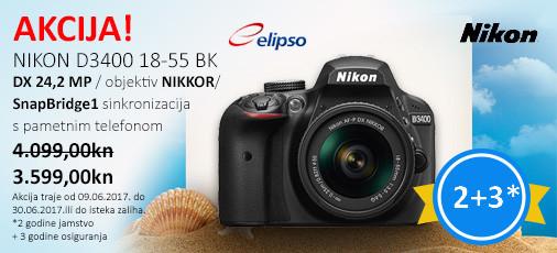 Nikon D3400 Akcija Lipsnj 2017