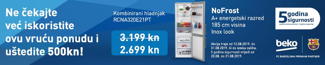 nofrost hladnjak rcna320e21pt, kolovoz