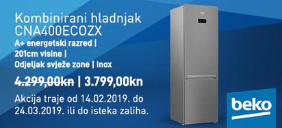 NoFrost kombinirani hladnjak CNA400EC0ZX