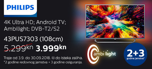 philips 43pus7303 akcija 2018