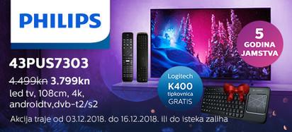 philips 43pus7303 k400 akcija 2018