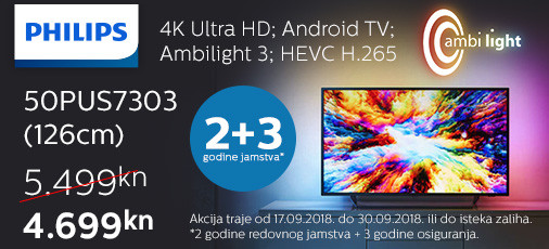 philips 50pus7303 akcija 2018