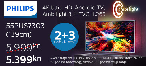 philips 55pus7303 akcija 2018