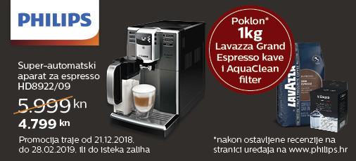 philips hd8922 aparat za kavu akcija