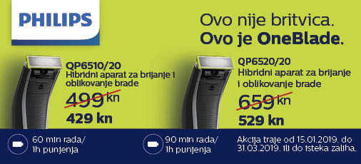 philips one blade akcija 2019