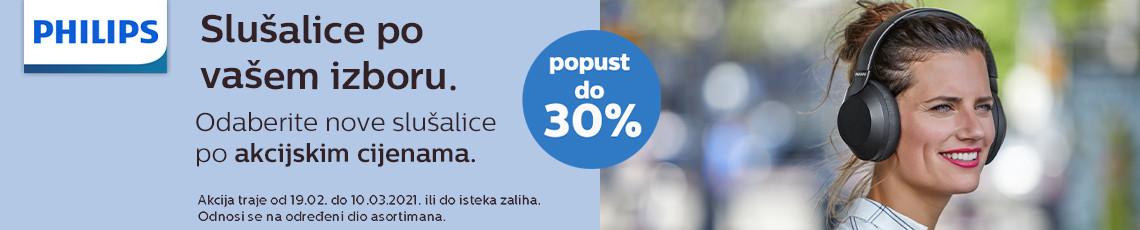 Philips slušalice akcija do 30 posto