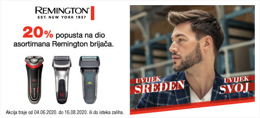 remington brijači ljeto 2020