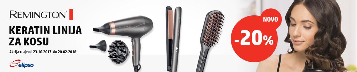 remington za žene keratin linija za kosu
