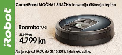 Roomba 981 akcija ide dalje