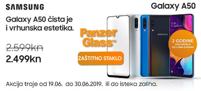 Samsug Galaxy A50 i Panzerglass akcija