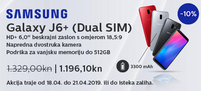 Samsung  Galaxy  J6 plus akcija travanj