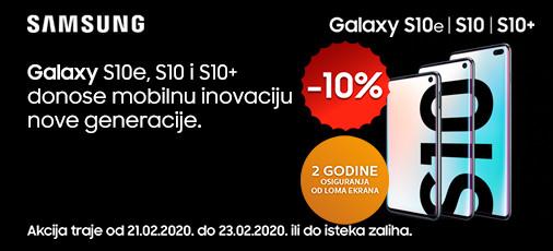 samsung galaxy s10 akcija 10 posto