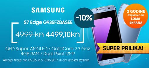 Samsung Galaxy S7 Edge plavi akcija