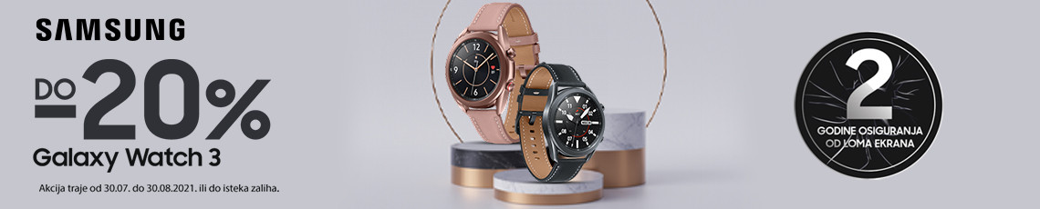 Samsung galaxy watch 3 akcija kolovoz