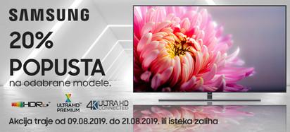 samsung tv 20 posto akcija kolovoz 2019