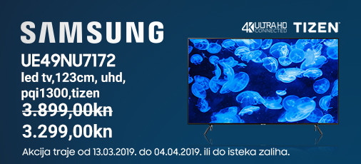 samsung ue49nu7172 akcija ožujak 2019