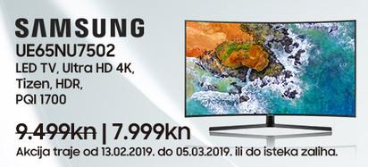 Samsung UE65NU7502 Akcija Veljača 2019