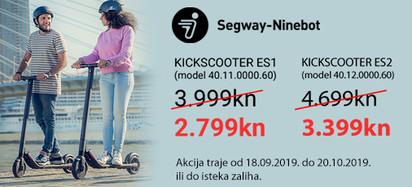 Segway - akcija Kickscooter ES1 i ES2