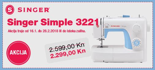 singer simple 3221 akcija