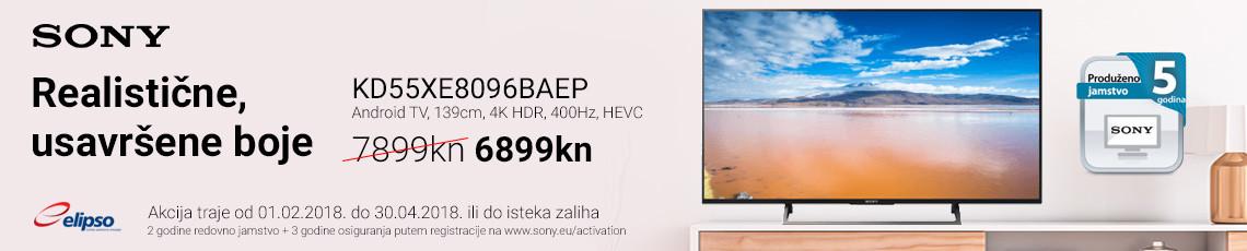 sony kd55xe8096 akcija 2018