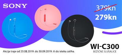 sony wic300 slušalice akcija