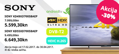 Sony xd7005 -30 posto, ožujak 2017