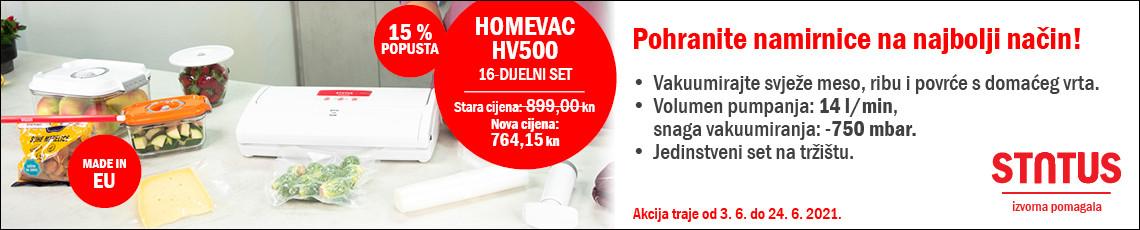 Status HomeVac HV500 lipanj