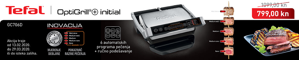 tefal optigrill gc706d akcija