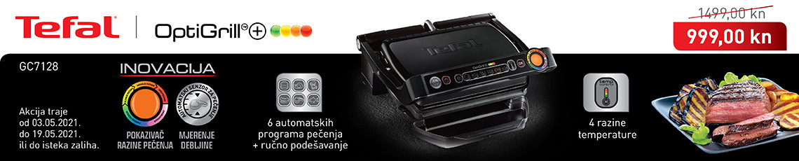 tefal optigrill gc7128 akcija