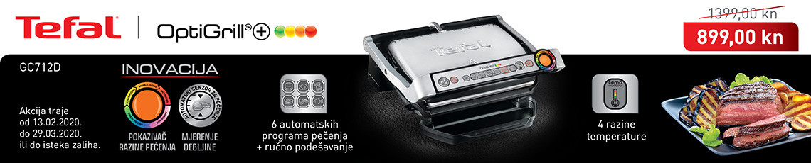 tefal optigrill gc712d akcija