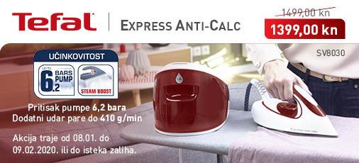 tefal - express anti-calc sv8030