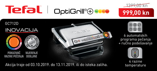 tefal - gc712d optigrill akcija