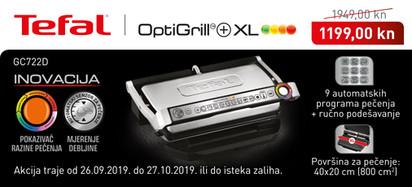 Tefal - GC722D Optigrill akcija