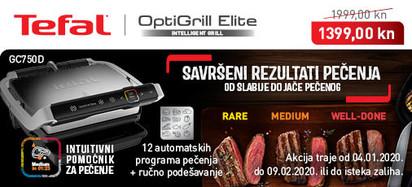 Tefal - Optigrill Elite GC750D siječanj