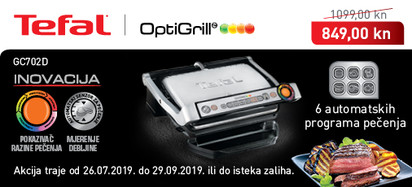 Tefal - Optigrill GC702D akcija