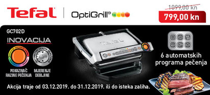 Tefal - Optigrill GC702D prosinac