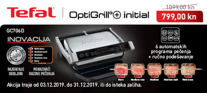 Tefal - Optigrill GC706D prosinac