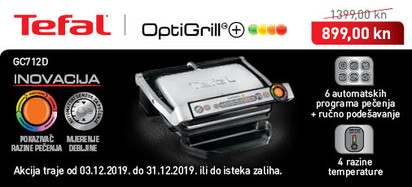 Tefal - Optigrill GC712D prosinac