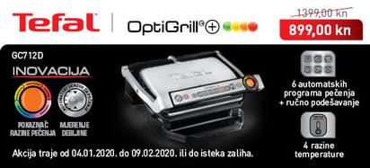 Tefal - Optigrill GC712D siječanj