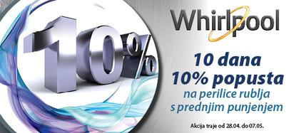 Whirlpool perilice 10 dana